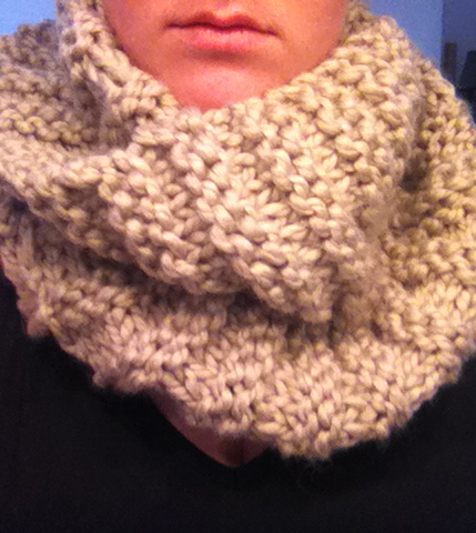 How To Knit A Snood Scarf Free Pattern : How To: chunky-knit snood Clever Bird Banter