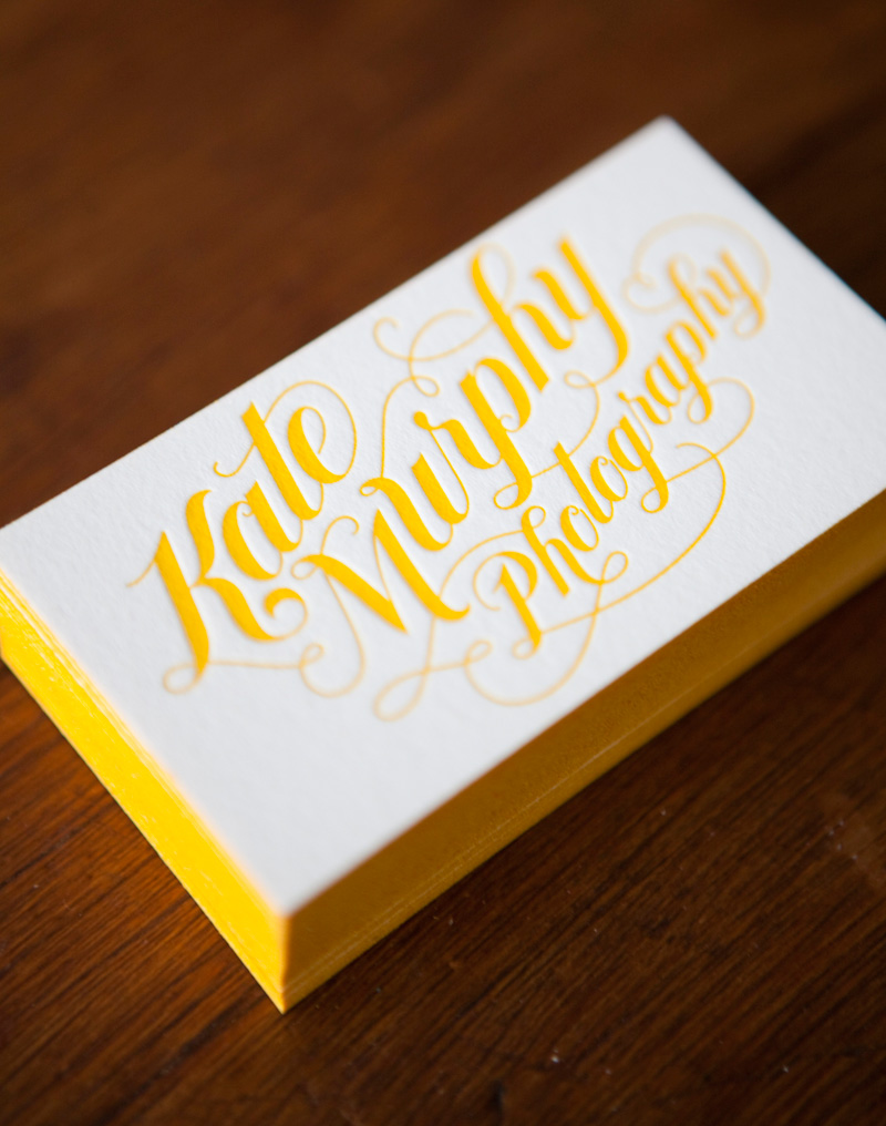 Beautiful business cards part one clever bird banter love the yellow and awesome typography design by jessica hitch photos by kate murphy magicingreecefo Gallery