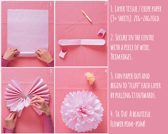 Diy paper flowers clever bird banter make poms instructions mightylinksfo