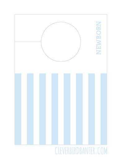 Blue Stripe Baby Clothes Divider Clever Bird Banter