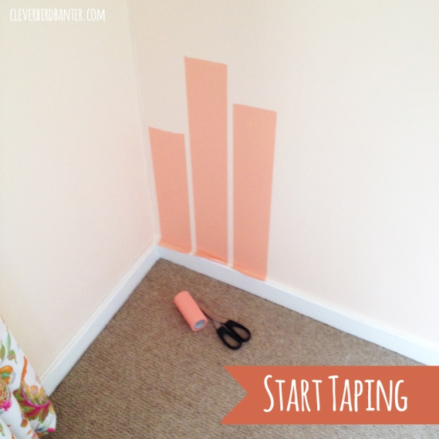 start by putting tape on walls copy