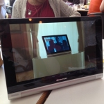 A little bit in love with this Lenovo Yoga tablet - they gave TWO away to two lucky bloggers on the day!